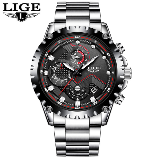 Men Fashion Sport Quartz Clock Mens Watches Top Brand Luxury Full Steel Business Waterproof Watch 5