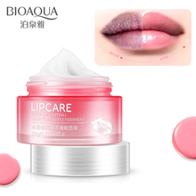hot deal buy bioaqua strawberry moisturizing lip mask plumper jelly lips moisturizer lighten lips lines pink lip care sleeping mask