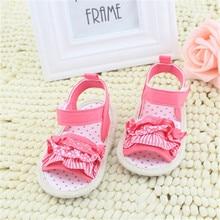 Принцесса Девочки Летняя Обувь Детская Кружева Мягкой Подошвой Non-slip Шпаргалки Впервые Walkers Обувь