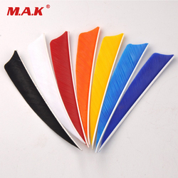 12pcs/lot High Quality DIY 4 inch Turkey Feather Real Arrow Feather Vans For DIY Arrow Hunting Free Shipping