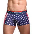Brand New Style Men's Underwear With Stars And Stripes American flag Printing Men's Boxer Cotton Homme Boxer Free Shipping