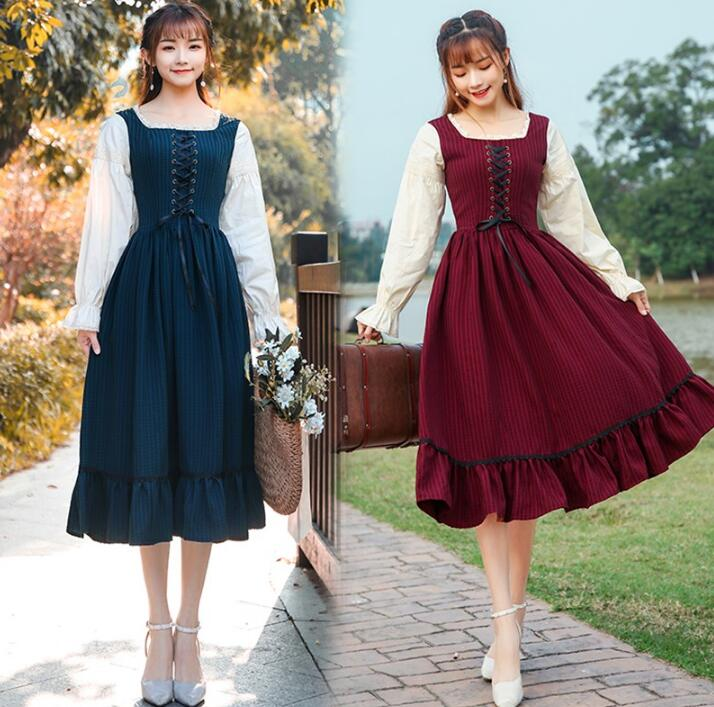 Lolita Dress  European America Girl Performance Costume Palace Girdle Dress