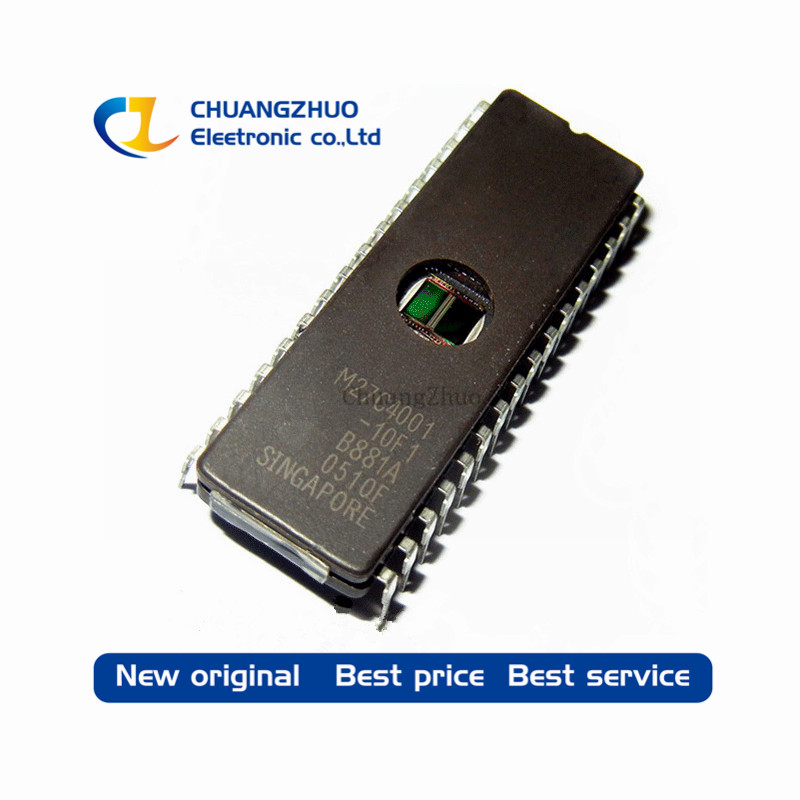 10PCS M27C4001-10F1 27C4001 IC EPROM UV 4MBIT 100NS 32CDIP