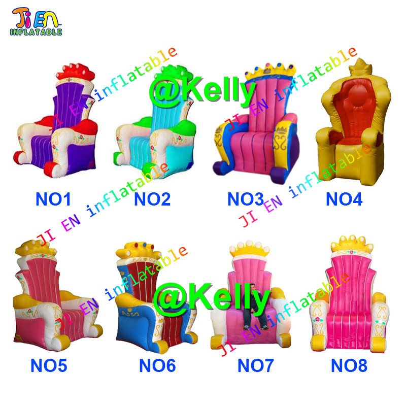 Inflatable Kids Birthday Chair: Free Shipping Multi Color Choices Inflatable Throne Chair
