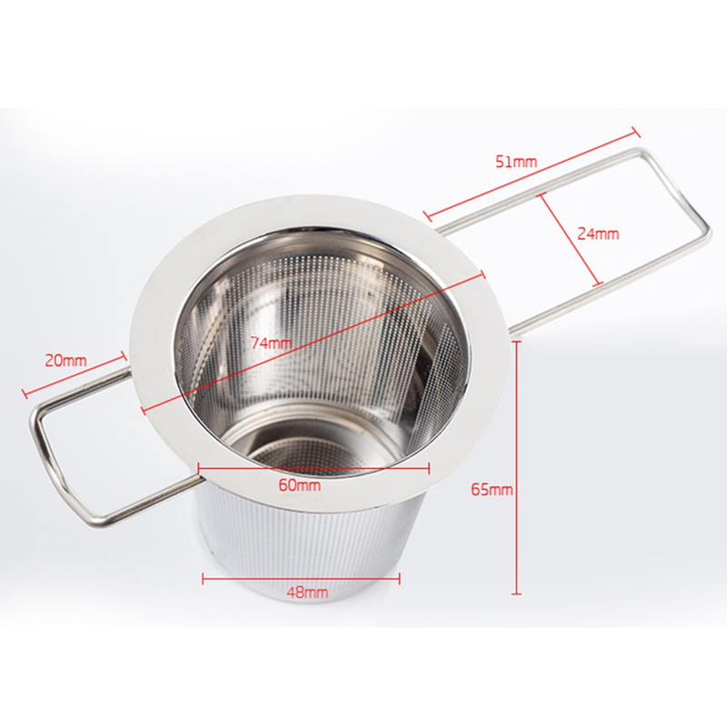 Mesh Tea Infuser Stainless Steel Filter Extra Fine Mesh Fits Standard Cups Mugs Teapots For Brewing Steeping Loose Tea in Vacuum Cleaner Parts from Home Appliances