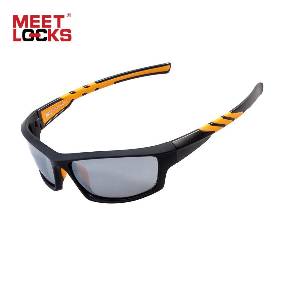 Meetlocks ciclismo óculos polarizados óculos de sol esportes uv400 proteção para equitação pesca equitação eyewear oculos ciclismo