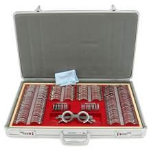 Zeast 104/266 pçs lente óptica julgamento lente conjunto de teste de olho optometria trial caso da lente de metal guarnição caixa de provas caso alumínio
