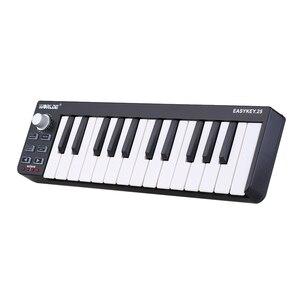 Easykey.25 Portable Keyboard Mini 25-Key USB MIDI Controller(China)