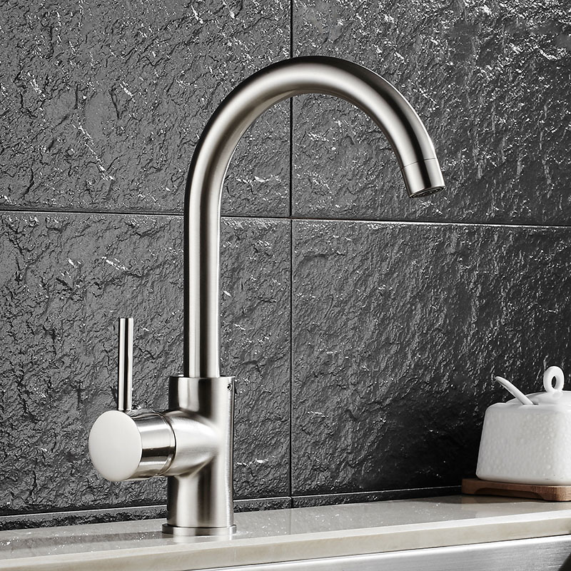 ФОТО Free Shipping Brass Nickel Kitchen Faucet Modern Sink Faucet luxury Hot & Cold luxury Water Kitchen Mixer tap Water tap
