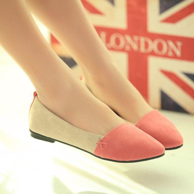 Barato! Top venda Casual Comfort Ballet Patchwork saltos baixos sapatos mulheres transporte rápido 3 cores bonito tênis SH752