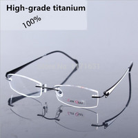 Eyeglasses rimless non screw memory titanium flexible armacao glasses prescription spectacle optical frame women glasses frame