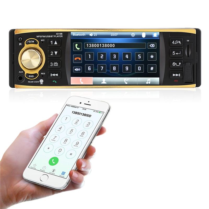 4.1 pouces 1 Din autoradio Audio stéréo USB AUX FM Radio Station 2018 Auto Radio Bluetooth avec caméra de recul télécommande