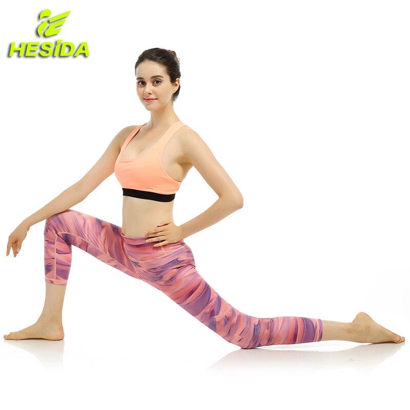 Yoga Pants Gym Leggings For Fitness Clothing Sport Pants Female Sportswear Capri Jogging Running Pants Trousers Tights Woman Hot