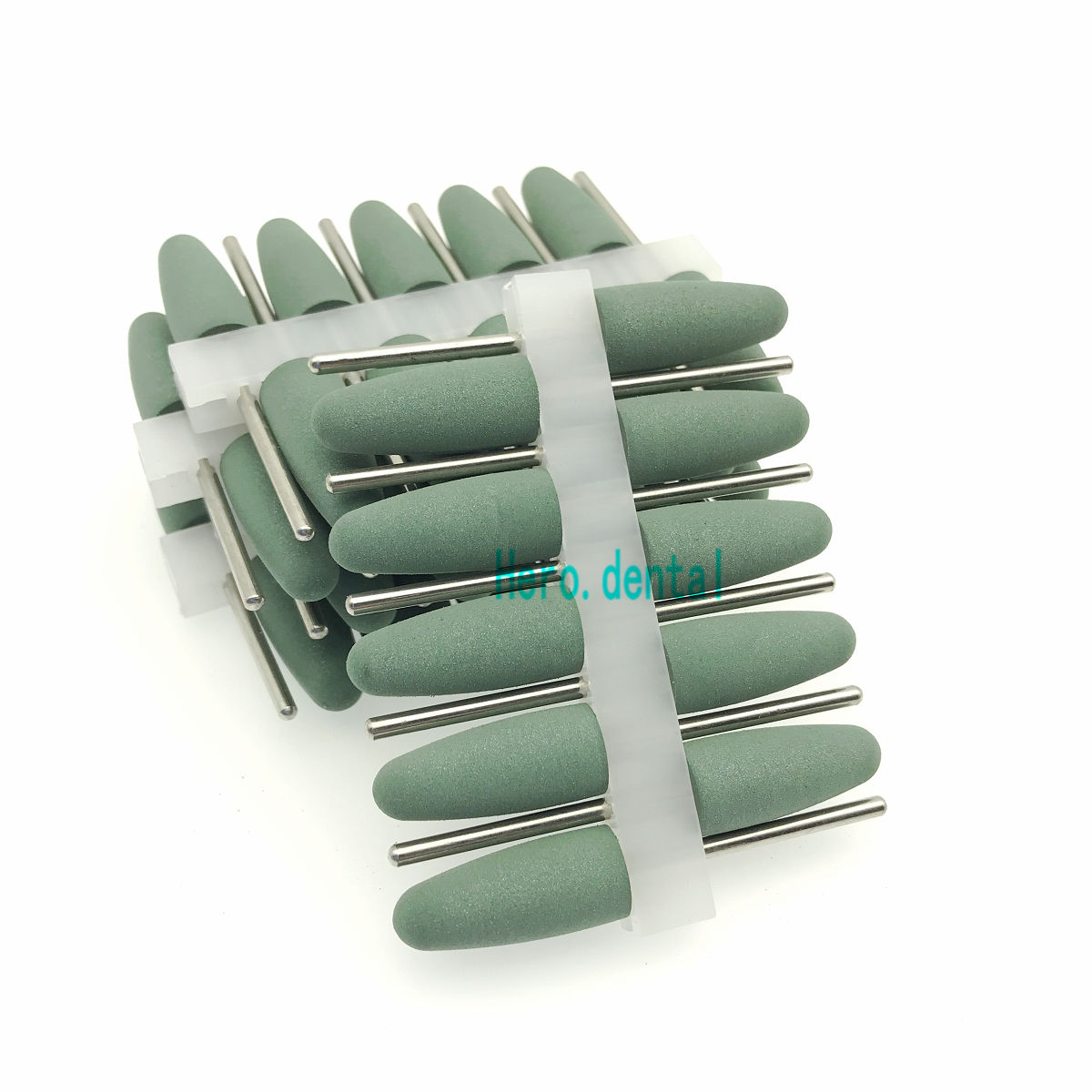2 35mm Dental Silicone Rubber Resin Base Hidden Denture Polishing Burs green in Teeth Whitening from Beauty Health