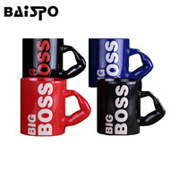 BAISPO 450ml Europe And The United States Selling BIG BOSS Ceramic Mugs Coffee Cups Readily Cup