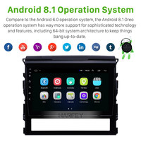 Harfey Car 9 HD Android 8.1 Radio 2Din Bluetooth GPS Stereo Navi For Toyota Land Cruiser 200 2016 support TPMS DVR Touch Screen