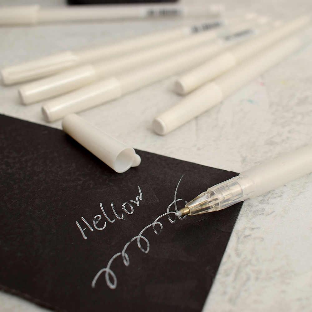 Encre blanche couleur Album Photo 0.8 MM stylo Gel mignon unisexe stylo cadeau pour enfants papeterie bureau peinture fournitures scolaires marque d'art