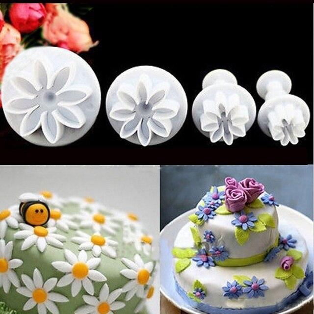 4 pcs ensemble g teau d cor mold forme de fleur coupe de for Chambre de sucre gourmet artisanal sugars