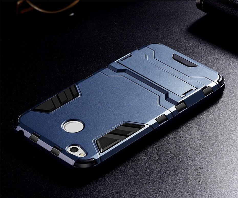 Armor Case For Xiaomi Redmi 4X Pro Case Shockproof Robot Silicone Rubber Hard Back Cover On Xiomi Redmi 4 X Phone Coque Xaomi