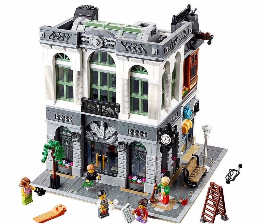 15001 2413 pièces créateur brique banque modèle Kits de construction blocs briques jouet Compatible avec Legoings 10251