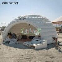 Гигантский барный дом надувной белый иглу шатер, событие купол иглу диско, DJ стенд вечерние партия павильон палатка с вентилятором для прод