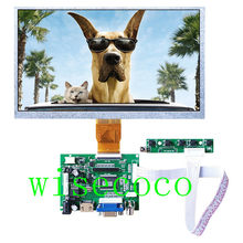 9 polegada 800*480 Tela Mini AT090TN12 Matrix TFT LCD Monitor HDMI Pequeno Controlador De Entrada TTL Bordo Motorista para framboesa(China)