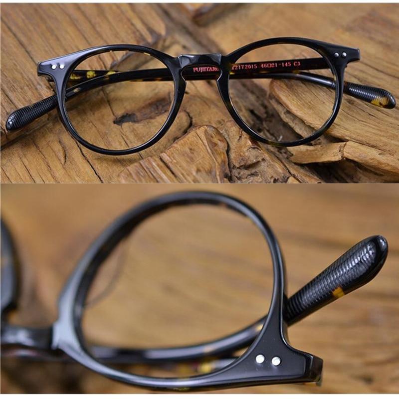 d17d08d85c Hand Made Vintage Tortoise Eyeglasses Frames Oval Full Rim Eye Glasses  Myopia Optical Spectacles Eyewear Rx able