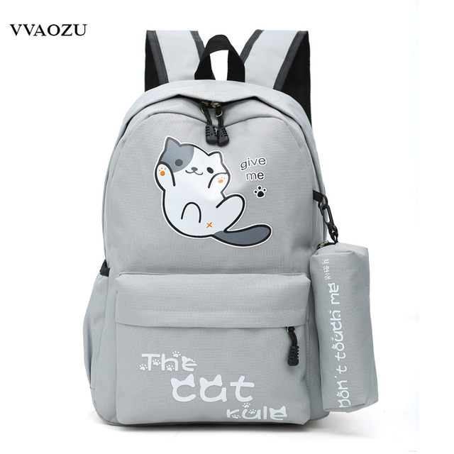 f28e13185d Anime Japan Neko Atsume Cat Backyard Cartoon Canvas Travel Shoulder Bag  Schoolbag Backpack Rucksacks for Teenagers