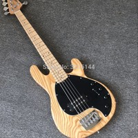 New product 5 string bass music man, floor of wood of northeast China ash, all colors can be, real photos, wholesale and retail