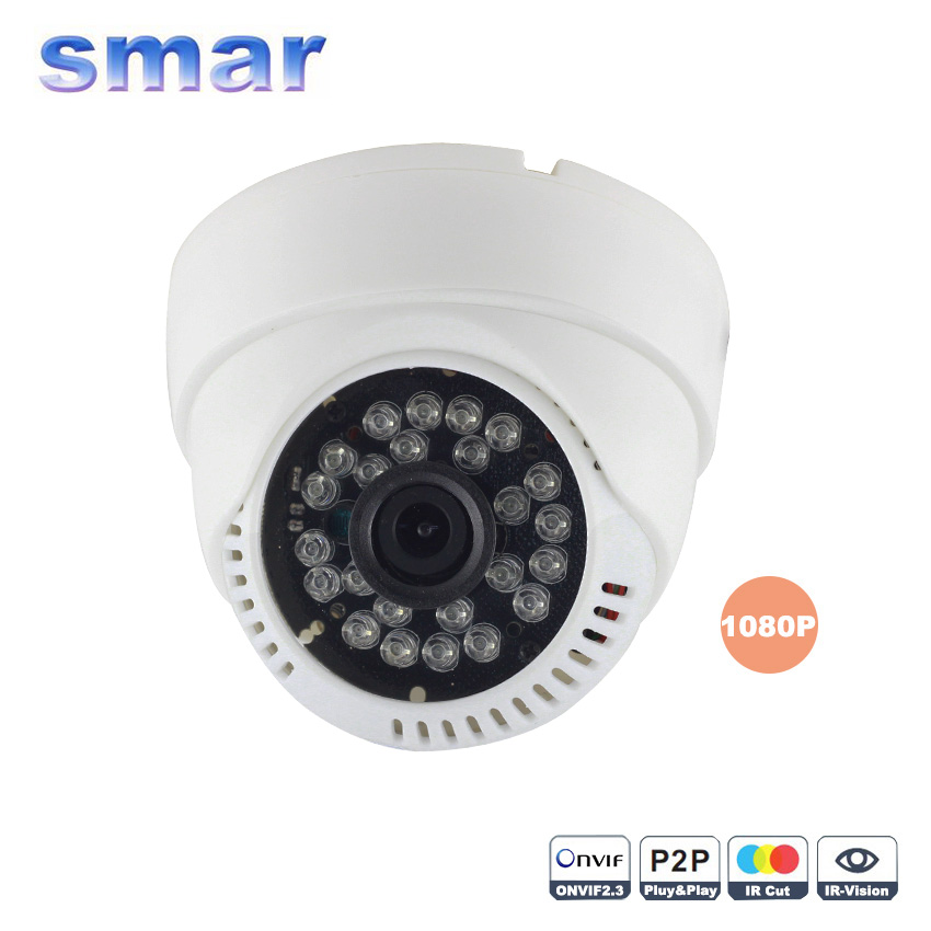 ФОТО Smar 2MP IP Camera 1080P H.264  24pcs leds 3.6mm Lens Securiy Dome HD Network CCTV IP Camera Android iOS P2P ONVIF2.3