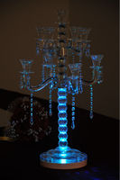 Lithium Battery Operated Dreamlike Blue Color 8 Inch Multi Colors Spot Light Base Use For Centerpiece