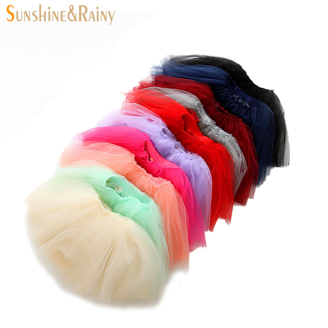 a7a519c8628a Sunshine   Rainy Baby Girl Tutu Skirt Lace Mesh Long Tutus Little ...