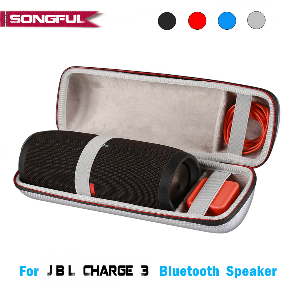 все цены на New Charge 3 Bluetooth Column Speaker Case Cover for JBL Charge 3 Case Storage Box Protective Bag Charge3 EVA Hard Shell Handbag