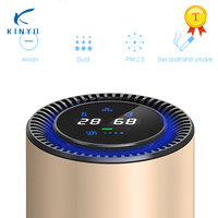 KINYO Car Air Purifier with Filter Portable USB Cleaner Remove Formaldehyde Cigarette Smoke Odor Smart Purifying Device Ionizer
