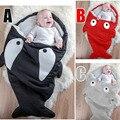 0-3 years  Shark newborn sleeping bag sleeping bag winter stroller bed swaddle blanket wrap bedding cute baby sleeping bag BC26