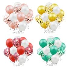 15 шт. жемчужные синие белые конфетти латексные воздушные шары для дня рождения вечерние украшения для свадьбы или «нулевого дня рождения» воздушные шары