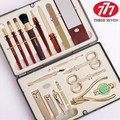 Manicure Set gloden 777 cosmetic brush Nail Art Set Nail Clipper Finger scissors Best Gift for Friend and Family Nail tool