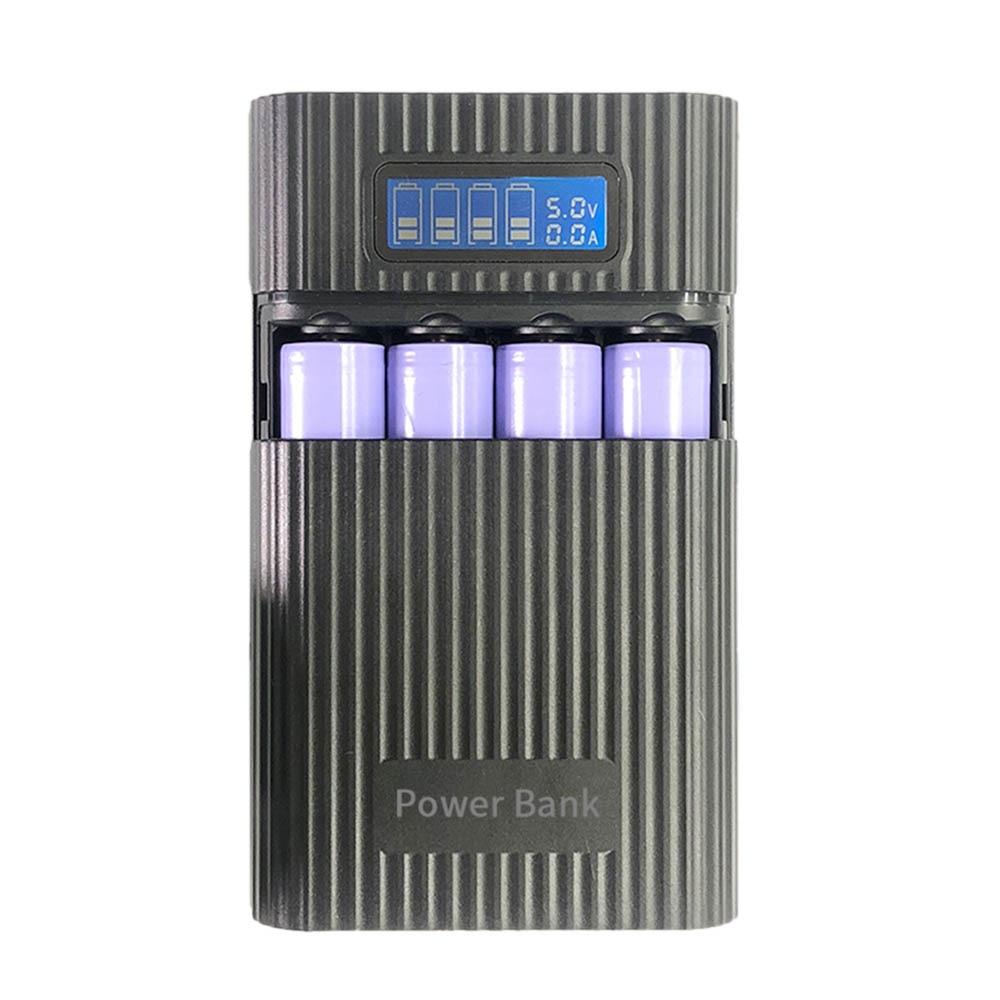 (No Battery) 4 x 18650 Power Bank Box Kit Mobile Phone Charger Pover Bank Case DIY Powerbank Portable Poverbank Pover Power Bank
