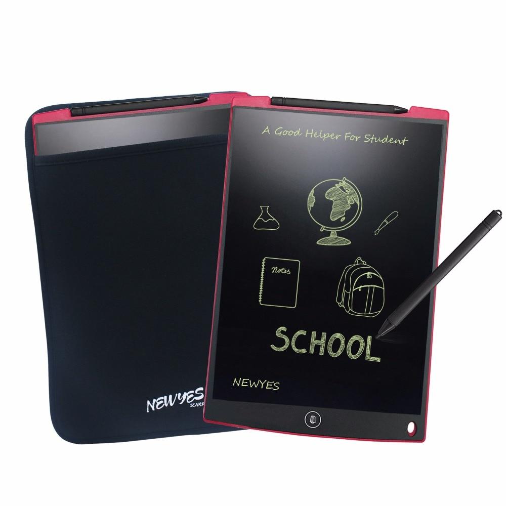 NEWYES Red 12 դյույմ թվային դյուրակիր մինի LCD գրող էկրանային պլանշետներ eWriter Նկարչական տախտակ Խաղալիքներ Մանկական նվերներ ստիլուս գրիչով և պայուսակով
