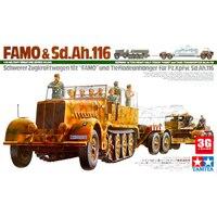 Собрал модель 35246 Пособия по немецкому языку 18 Ton полу гусеничный трактор и цистерна 1/35