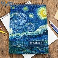 Emoshire 16 k Sketchbook Criativo Pintados À Mão Da Arte Da Pintura Chinesa Antiga Notepad A4 Velocidade Livro Notebook Atacado N061
