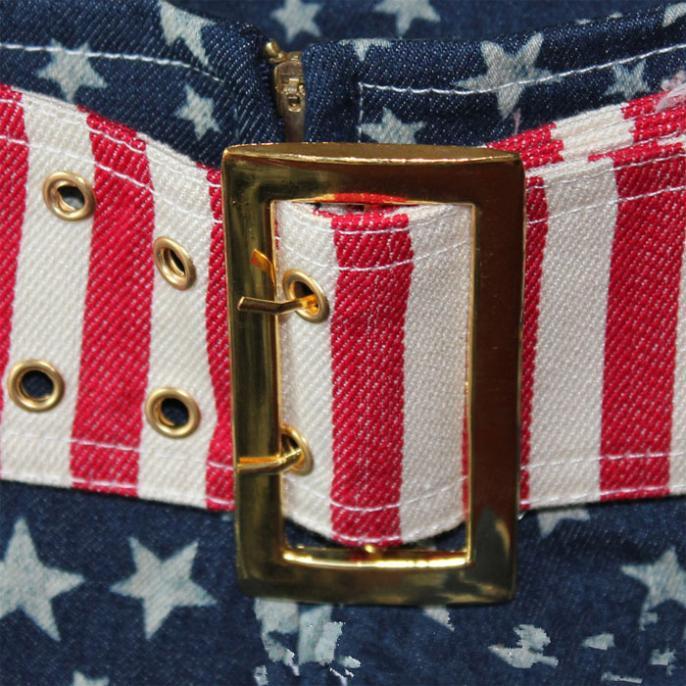2016 new Girls Sexy Short US Flag Mini Jeans Shorts Hot Trousers Denim Low Waist Summer Women Shorts