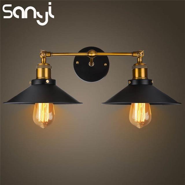 Superieur SANYI Moderne Vintage Applique Industrielle Loft Métal Double Rustique  Applique Murale Lampe éclairage Intérieur Pour Salle