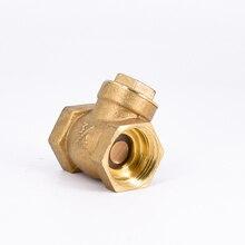 """DN20 G3/"""" BSPP латунный обратный клапан с внутренней резьбой, односторонняя толщина 2,9 мм, длина 44 мм"""