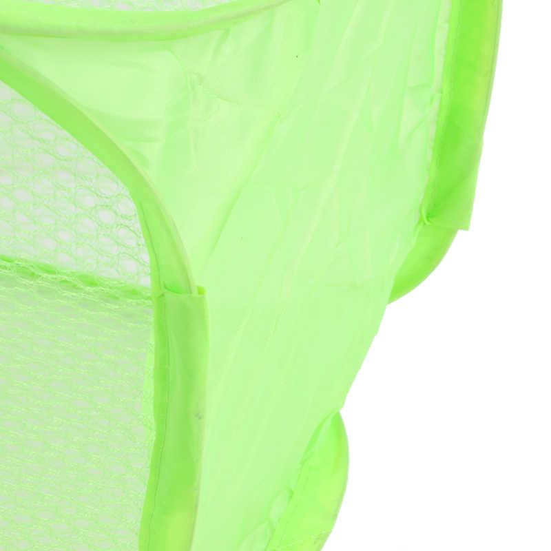 Urijk Casa Grande Dobrável Multicolor Malha Net Cesto de Roupa Suja Cesta de Roupa Cesta De Armazenamento Dobrável Organizador Banheiro Oco 1 PC