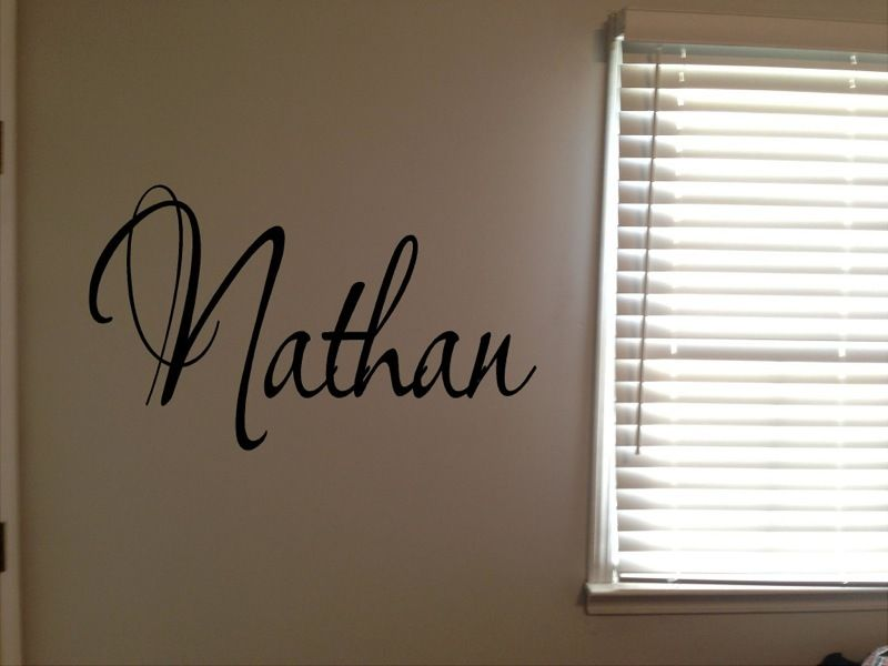 D0067 Custom Nathan Boys Room Name Nursery Baby Kids Vinyl Wall Art Quote Sticker