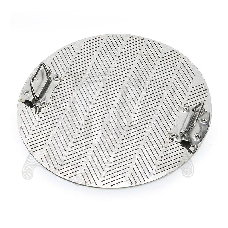 Фальшдно диаметр 345 мм, толщина 2мм, ширина разреза 0.8 мм, с ручкой, материал изготовления нержавеющей сталь 304