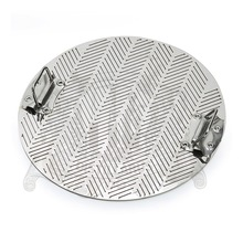 Slit False bottom 345mm, 2 mm thickness, cut size 0.8mm,   with handle , Stainless steel 304