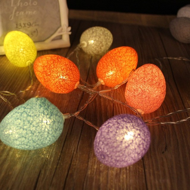 Outdoor Easter Lights Easter eggs fairy string lights lamp 18m 10 led cotton light eggs easter eggs fairy string lights lamp 18m 10 led cotton light eggs balls party outdoor workwithnaturefo