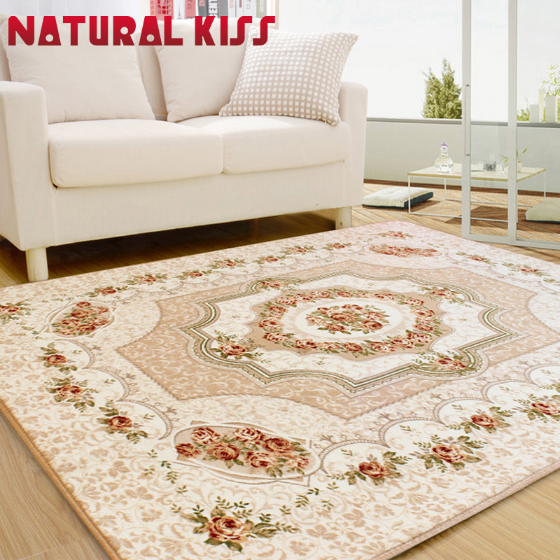 Rose Pattern 120x180CM European Living Room Big Area Decoration Carpet Rugs For Bedroom Soft House Door